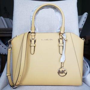 NWT Michael Kors LG Ciara Satchel Bag Daisy Yellow